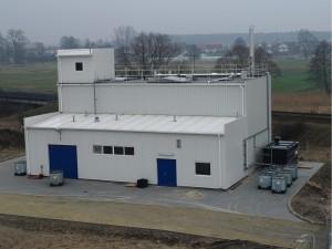Външен изглед на пречиствателната  станция за отпадъчни води