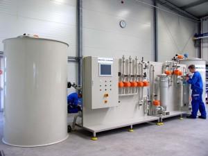 частичен изглед на инсталацията Envochem® APU, Coil в Бернбург, Германия